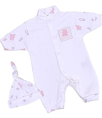 64d46d476 Babyprem Premature Baby Girls Clothes Set Romper & Hat 1.5-7.5lb