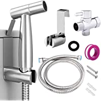 Handheld Bidet Sprayer for Toilet Seat - Cloth Diaper Sprayer (Two Ways to Mount) Portable Pet Shower Toilet Water…
