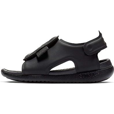 f3d3cf712a Nike Boy's Sunray Adjust 5 Toddler Sandal, Black/White, Size 3 M US