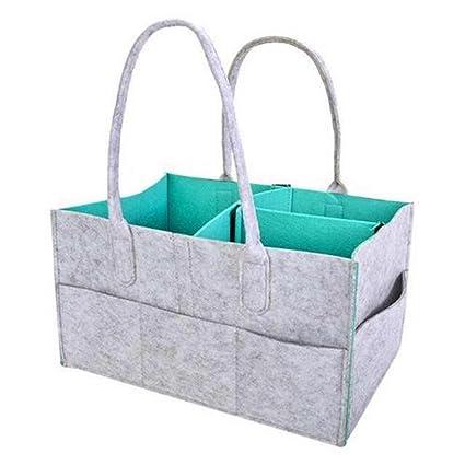 Bandeja de pañales para bebé, tamaño grande, portátil, para almacenamiento de guardería y