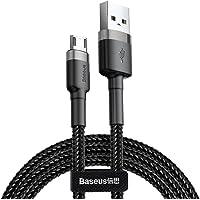 Baseus Cafule USB For Micro Kablo, 2.4A, 1m, Gri, Siyah - CAMKLF-BG1