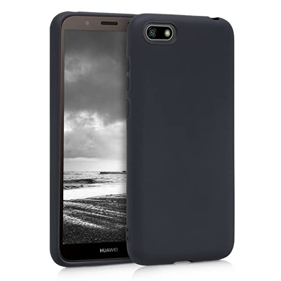 new concept 13ddc d7878 kwmobile TPU Silicone Case for Huawei Y5 / Y5 Prime (2018) - Soft Flexible  Shock Absorbent Protective Phone Cover - Black Matte