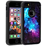 5s cute protective cases - iPhone 5S Case,iPhone 5 Case,iPhone SE Case,Rossy Galaxy Nebula Space Design Shock-Absorption Hard PC and Soft Silicone Dual Layer Hybrid Armor Defender Protective Case Cover for Apple iPhone SE/5S/5