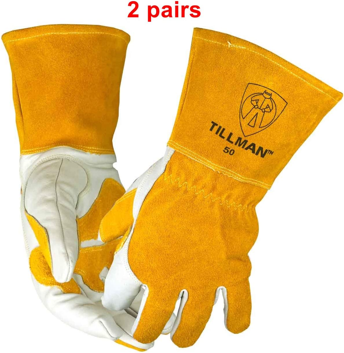 John Tillman and Co 50L Top Grain Leather MIG Gloves SIZE LARGE