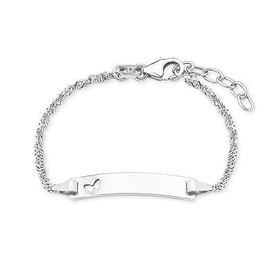 Prinzessin Lillifee Mädchen Armband Identarmband Mit Schmetterling 122cm 925 Sterling Silber Inkl Wunschgravur