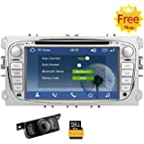 Eincar 2 din Wince system Car DVD GPS For Ford Mondeo Focus S-max 2007 2008 2009 2011 2013 Dash Radio Stereo GPS Navigation Headunit 3G Wifi Hotpots 7inch Digital Touch Screen Stereo Receiver with Free Canbus Reverse Camera