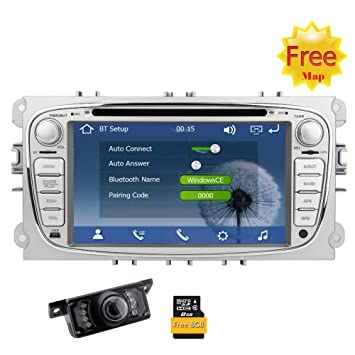 Eincar 2 DIN Wince Sistema del Coche DVD GPS para Ford Mondeo Focus S-MAX