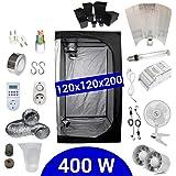 Kit de cultivo interior 400W SHP Stuko - Armario 120x120x200 - Balastro ETI 1