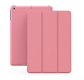 KHOMO Funda iPad Mini 1, 2, 3 - Carcasa Rosa Ultra Delgada con Smart Cover para Apple iPad Mini, Mini 2 Retina, Mini 3 - Dual Pink