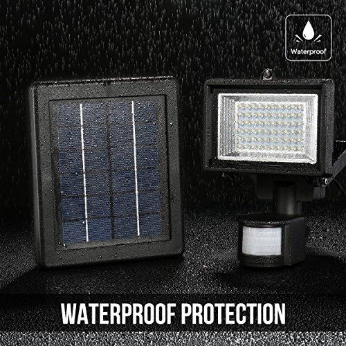 ... Motion Sensor Light, Waterproof, High Output 60 LED, Solar Security Light, Wall Light, Solar Rechargeable Floodlight, Solar PIR Light - - Amazon.com