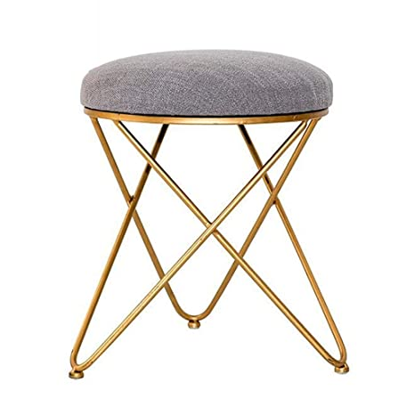 Amazon.com: Change Shoes Bench Dressing Stool Nordic Gold ...