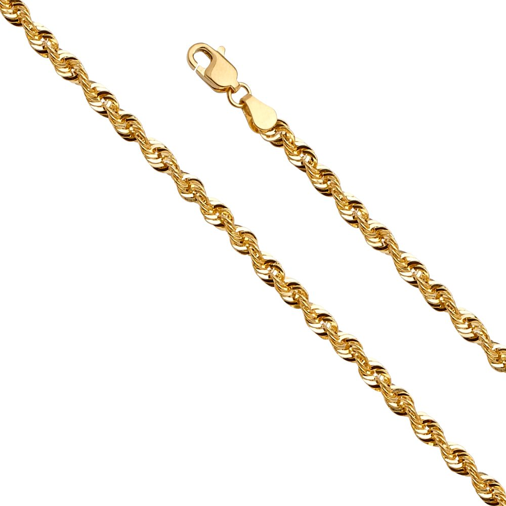 Jewels By Lux 14K White and Yellow Gold Two Tone Flat Mariner White Pave C Chain Necklace With Lobster Claw Clasp