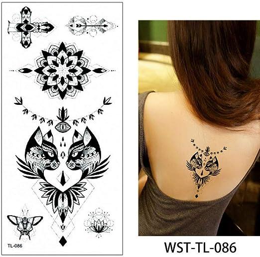 Modeganqing 8 Piezas joyería para Mujer Tatuaje Cuerpo Pecho ...