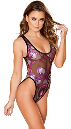 acb8aa78abe3 Amazon.com  J. Valentine Swirling Sequin Bodysuit  Clothing