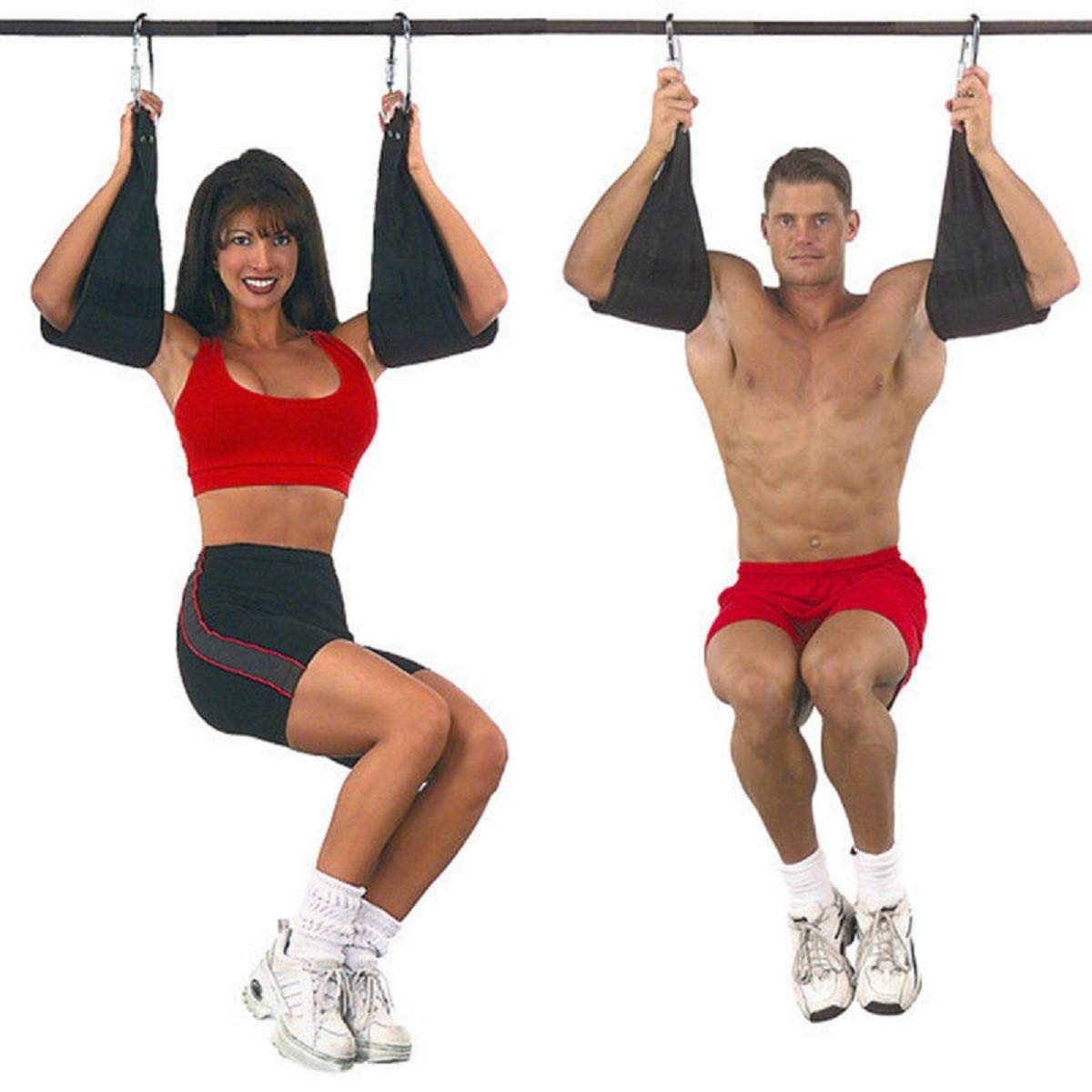 Flytool Ab Straps Core Exercise Equipment Training Gym Abdominal Hanging Straps, Black by Flytool (Image #1)