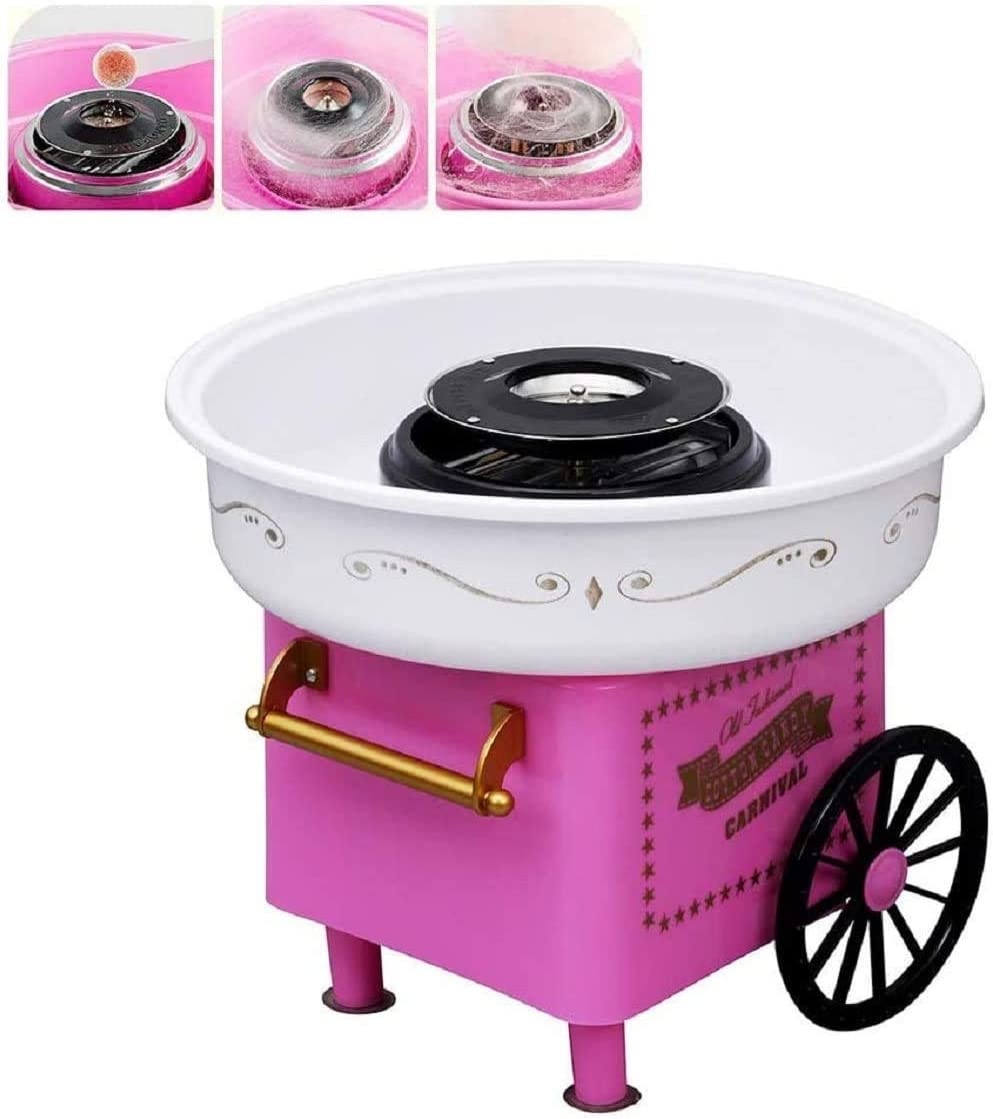ANCROWN Cotton Candy Machine, Sugar Floss Maker, Portable Mini Electric DIY Sweet Device for Kids in Party/at Home