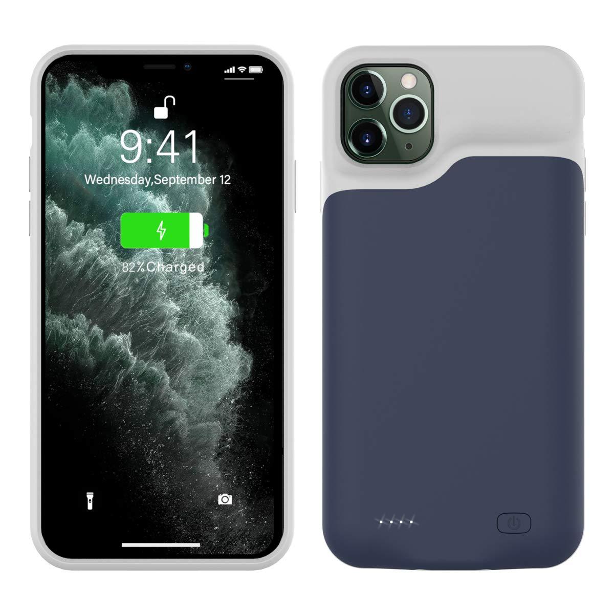 Bater/ía Cargador Externa para iPhone 11 Pro MAX 6.5 Inch Battery Black CASEWRS Funda Bater/ía para iPhone 11 Pro MAX 6.5 Inch Battery Recargable Backup Charger Case Port/átil Power Bank Case