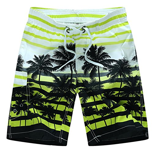 Tailor Pal Love Swim Trunks for Boys Volley Swim Strip Short Comfort Boardshort Swimwear with Coconut Tree Print Green 5X Large by Tailor Pal Love (Image #2)'