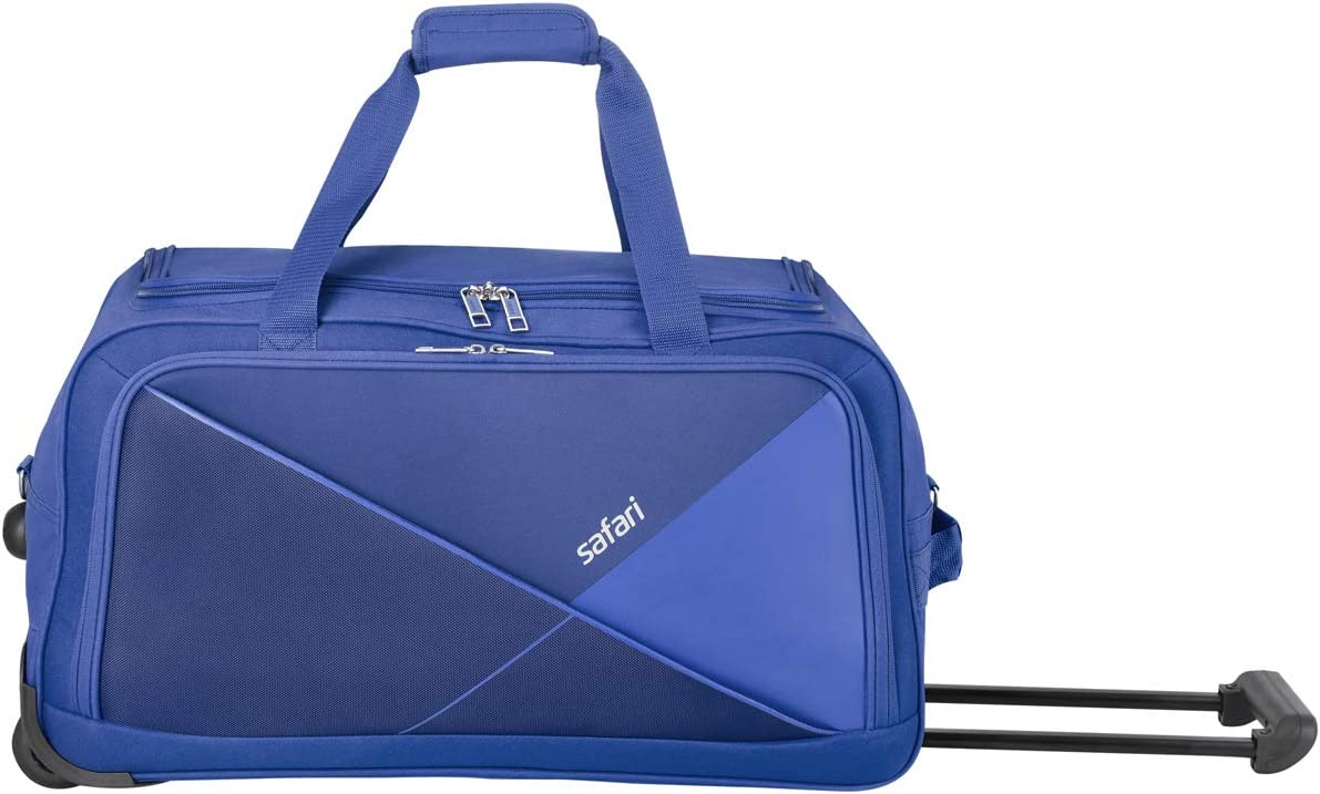 Safari Pret 59 Cms Polyester Navy Blue Check-In 2 Wheels Soft Duffle