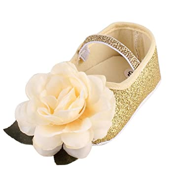 f6a1b62ee48f Baby Shoes, Kintaz Baby Girl Infant Flower Sequins Mary Jane Baptism Shoes  Dance Ballerina Slippers