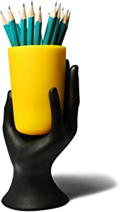 ARAD Hand Cup Pen/Pencil Holder (Yellow)