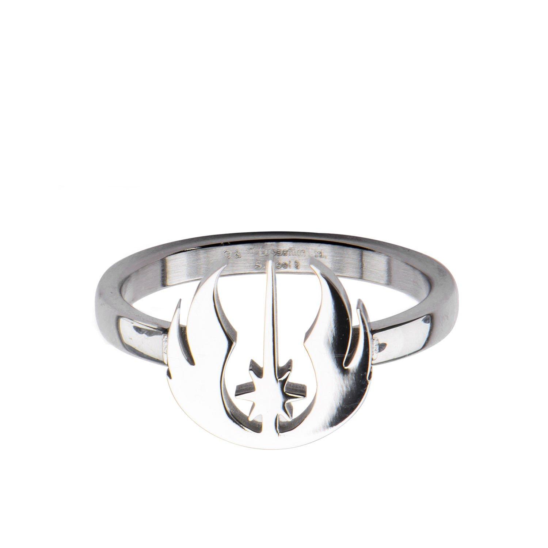 Star Wars Jedi Symbol Cut Stainless Steel Ring