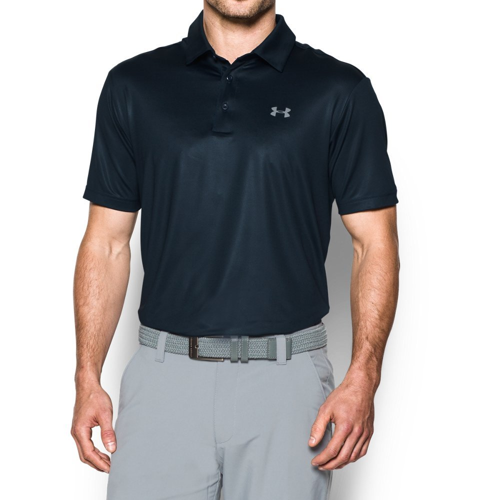 Under Armour Men's Playoff Polo, Academy/Cadet, Large by Under Armour