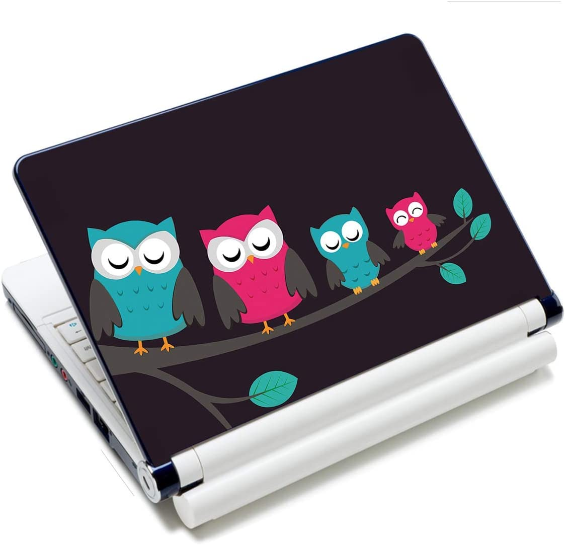 Laptop Notebook Skin Sticker Cover Decal Fits 12 13 13.3 14 15 15.4 15.6 inch Laptop Protector Notebook PC | Easy to Apply, Remove and Change Styles (Cute Owls)