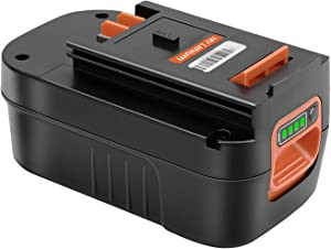 KUNLUN 5.5Ah HPB18 Lithium-Ion Battery Replacement for Black and Decker 18V Battery HPB18-OPE 244760-00 A1718 FS18FL FSB18 Firestorm Cordless Power Tools Ni-Mh Battery