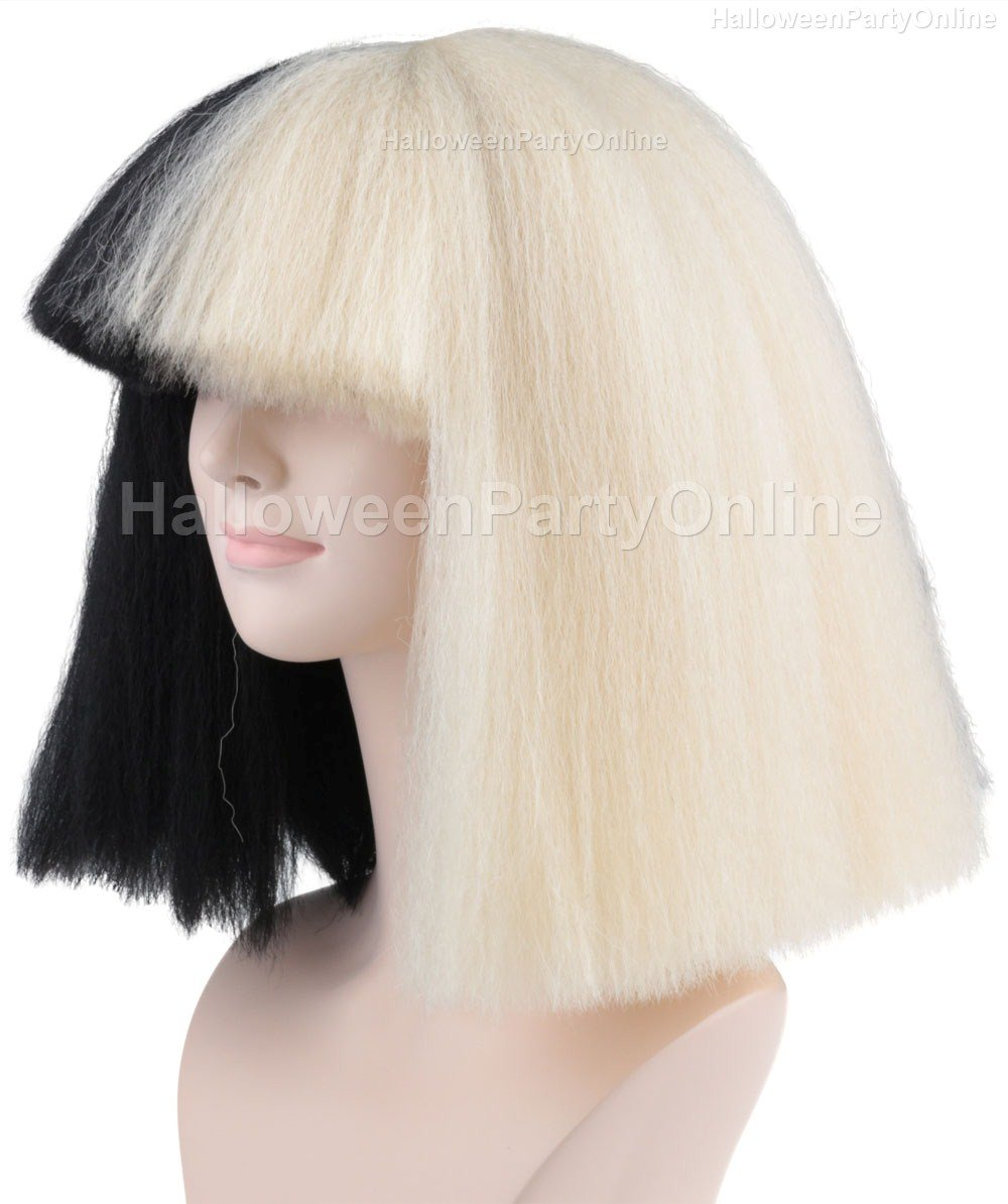 Amazon Halloween Party Online SIA Black Blonde Wig Large Costume Cosplay HW 173 Beauty