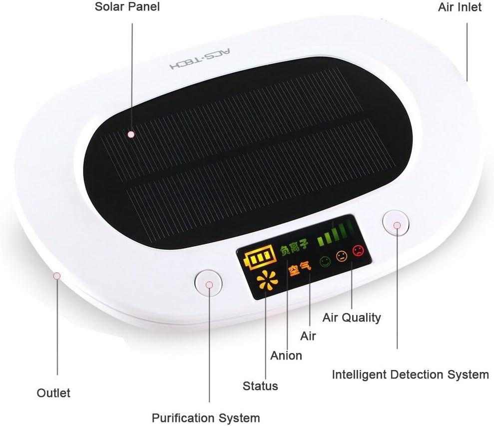 cheyoll Madera Solar Portátil Coche purificador de aire ionizador ...