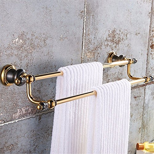 HOMEE Copper Dark Golden European Bathroom Towel Rack Retro Toilet Rack,A by HOMEE