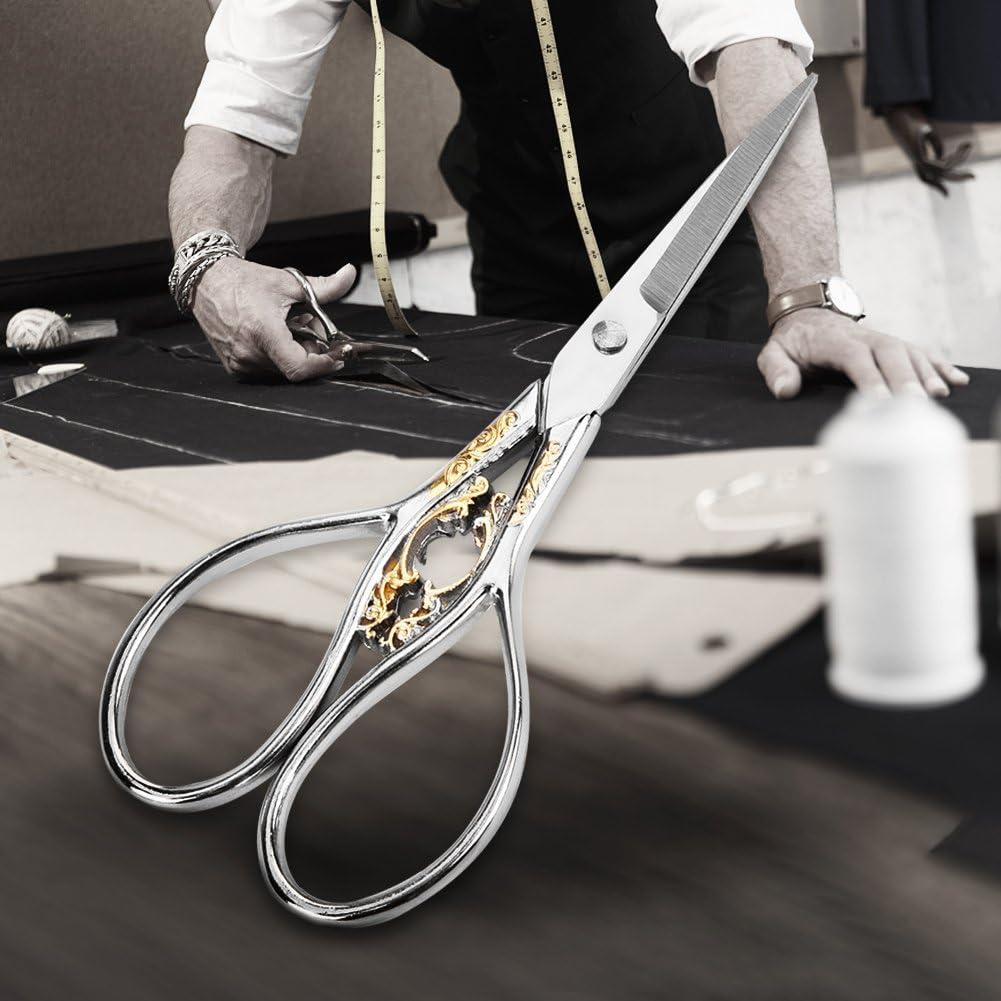 unos 11cm. negro con estampado dorado Filfeel Tijeras de acero inoxidable c/ómodas y ponibles