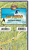 San Diego County Surf Map Surfing Guide Franko Maps Waterproof Map