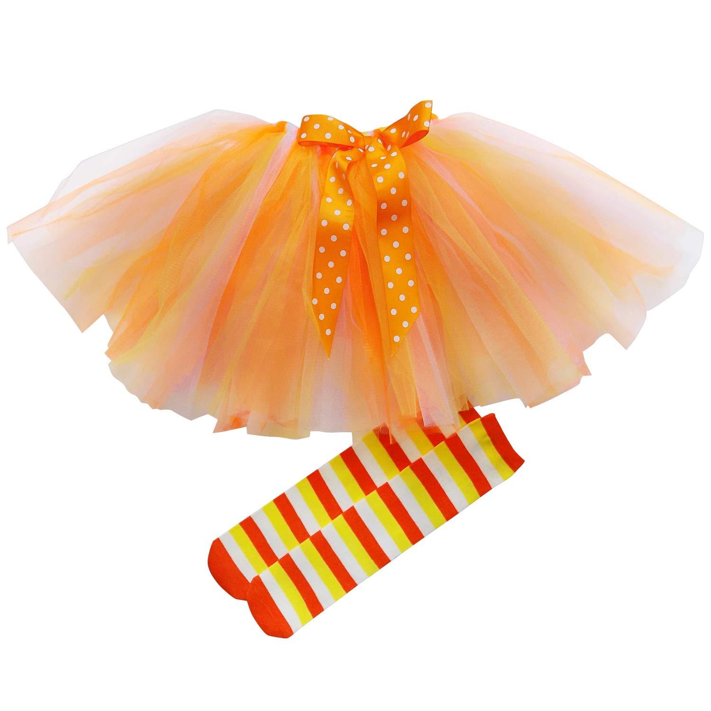 So Sydney Girls Kids Toddler Tulle Tutu Skirt & Top Socks Novelty Costume Outfit 2PCPOMSHORT-MAGUNI-M