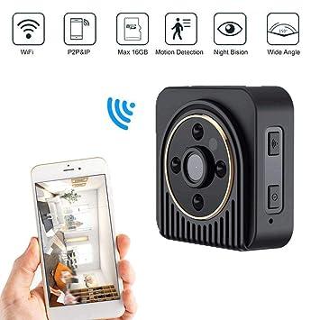 Jumedy Cámara espía mini espía, cámaras de vigilancia de seguridad para el hogar inalámbricas de
