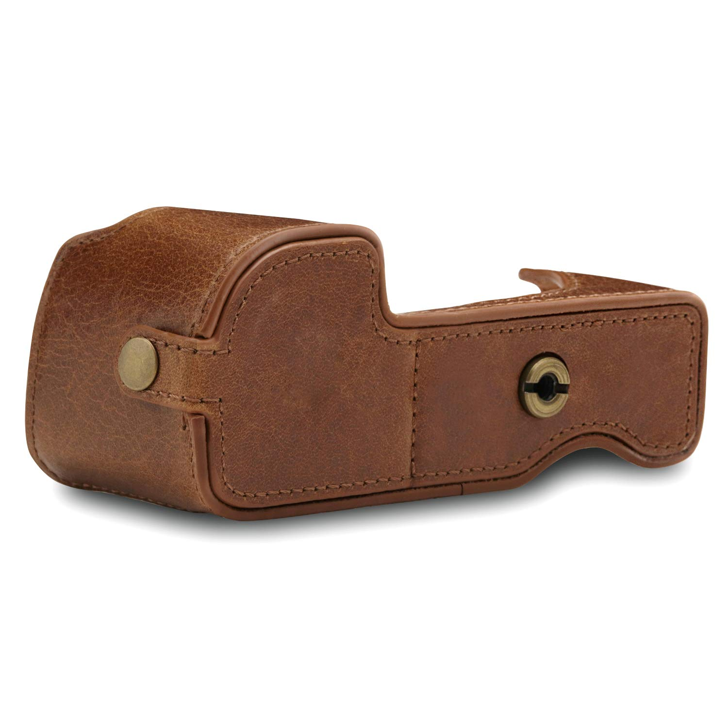 A6400 MegaGear Ever Ready Genuine Leather Camera Half Case Compatible with Sony Alpha A6100