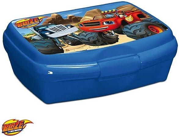 Caja de merienda Disney Blaze y la monstruo Máquinas Niños Azul: Amazon.es: Hogar