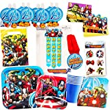 Marvel Avengers Party Supplies Ultimate Set (85 Pieces) -- Party Favors, Birthday Party Decorations, Plates, Cups, Napkins, Invitations and More!