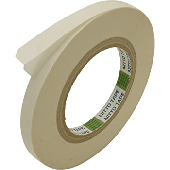 Nitto (Permacel) P-02 Double Coated Kraft Paper Tape: 1/2 in. x 36 yds. (White)