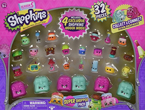 Shopkins Season 5 Super Shopper Pack, Includes 4 Shopkins Hidden Inside - 32 Pieces