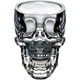 WMSTUDIO Creative Crystal Cup Skull Bottle of Wine Vodka Cocktail Cup Beer Mug Pirates of Glass Item, 1 Pc Transparent