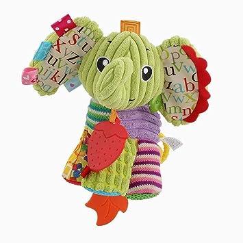 Xiton Asiento sonajero Colgante Campana Campanas de bebé sonajeros para bebés recién Nacido bebé Cuna Colgante Juguete Colgante Suave Juguete 1Pc(Elephant): ...