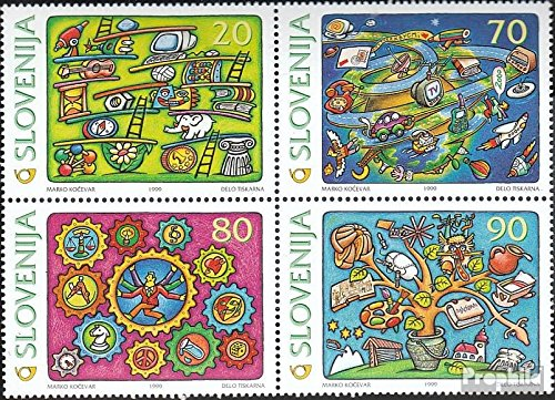 Stamps for collectors slovenia 268-271 block of four 1999 Millennium complete. issue.
