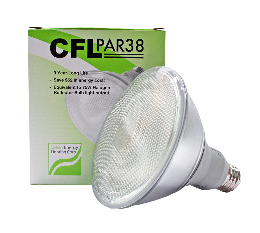 20W CFL PAR38 Fluorescent 4100K Cool White (65W Equivalent)