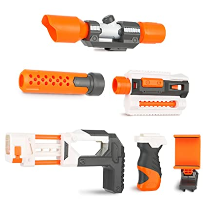Compatible Modulus Attachments,Newisland 6 Sets Blaster Upgrade Kits for Nerf  N-Strike Elite