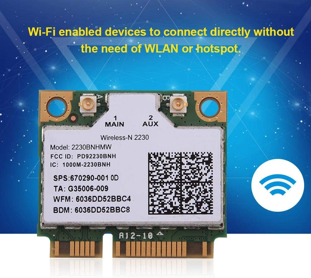 WiFi Card High Speed 300 Mps 2 in 1 Bluetooth WiFi Wireless PCI-E Card Adapter for Intel 945//965 Desktop Computer//Laptop GM45 Support Wireless Protocol 802.11 A//B//G//N PM45