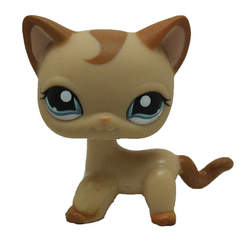 #1024 Pet Shop Rare Brown Short Hair Cat Kitty Blue Eyes LPS Toy Child's Birthday Present dreamsLE_LPS Pet Toy Store