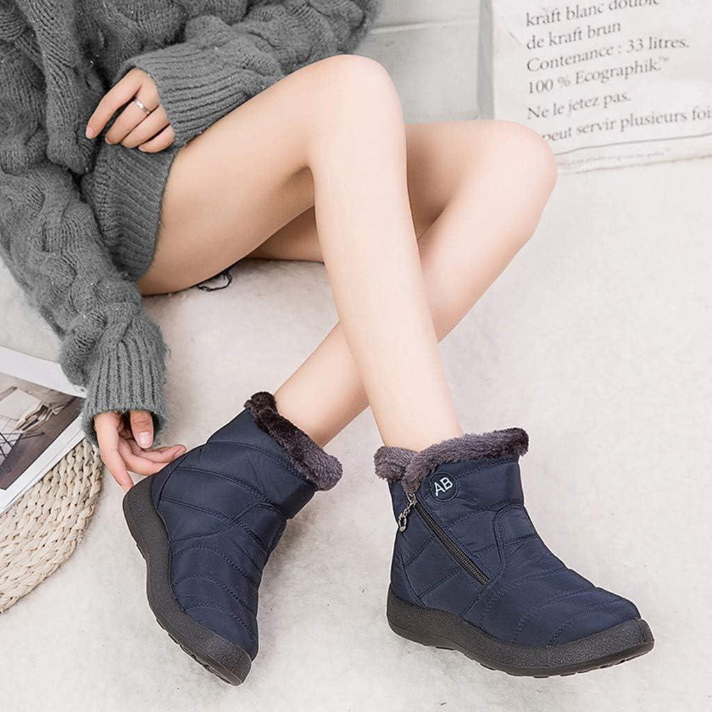 Aunimeifly Womens/Snow/Boots/Winter/Ankle Short/Bootie/Waterproof/Footwear/Warm Shoes