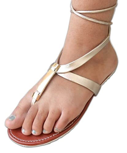 acfe78b22392 Ankle5 Golden Dailywear Designer Latest Stylish Casual Women s Flat Sandals